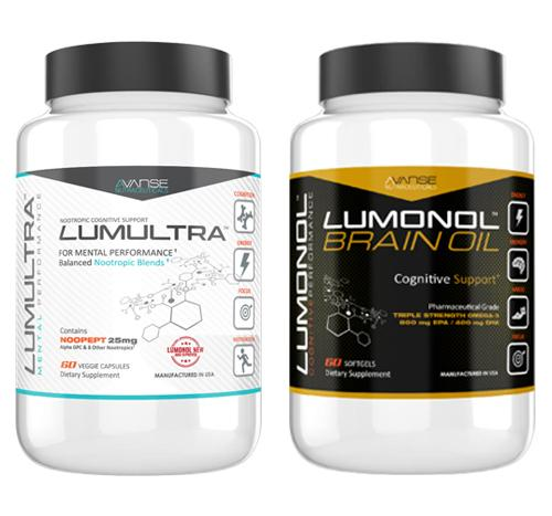 1 Bottle Lumultra + 1 Bottle Brain Oil
